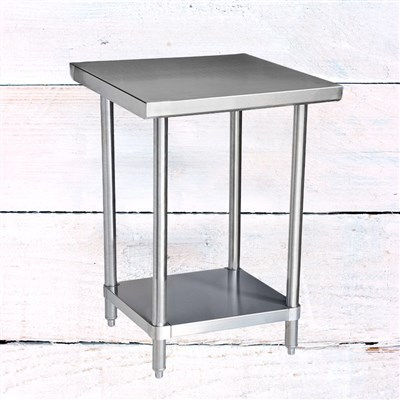"24"" x 24"" 304 Stainless Steel Table with Undershelf (16-Gauge) /"