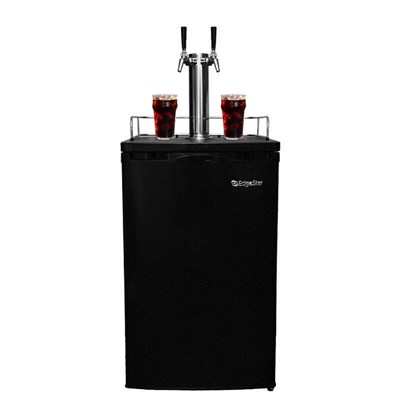 Cold Brew Coffee Kegerator - 2 Faucets (Black) /