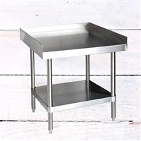 "24"" x 24"" 304 Stainless Steel Table with Side Walls & Undershelf (16-Gauge)"