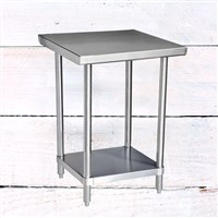 "24"" x 24"" 304 Stainless Steel Table with Undershelf (16-Gauge)"