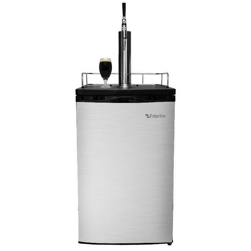 Nitro Coffee Kegerator - 1 Stout Faucet (Silver)