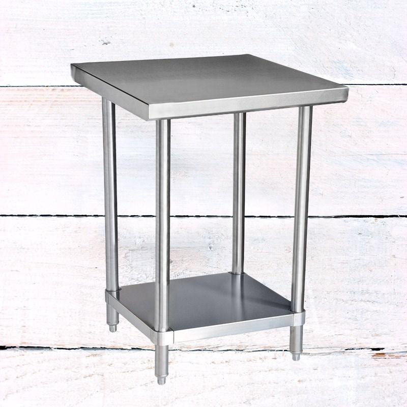 X Stainless Steel Table With Undershelf Gauge - 16 gauge stainless steel table