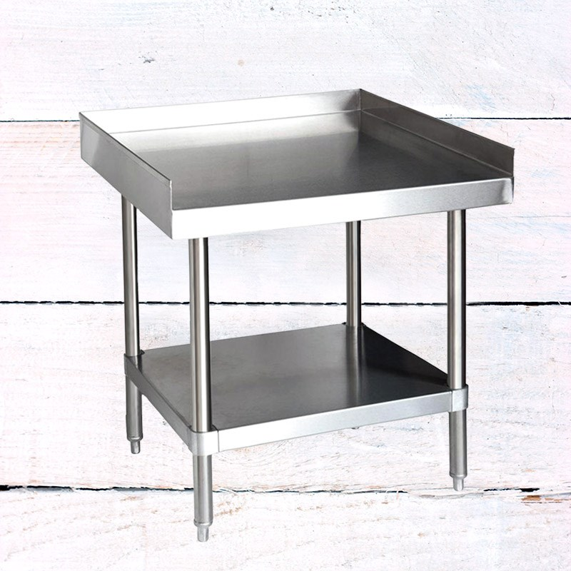 24 X 24 Coffee Table.24 X 24 304 Stainless Steel Table With Side Walls Undershelf 16 Gauge