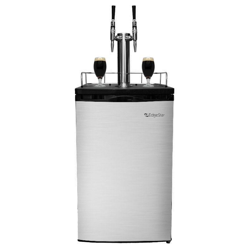 Nitro Coffee Kegerator - 2 Stout Faucets (Silver)